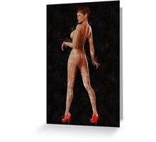 Nothing But Red Shoes by MB Greeting Card
