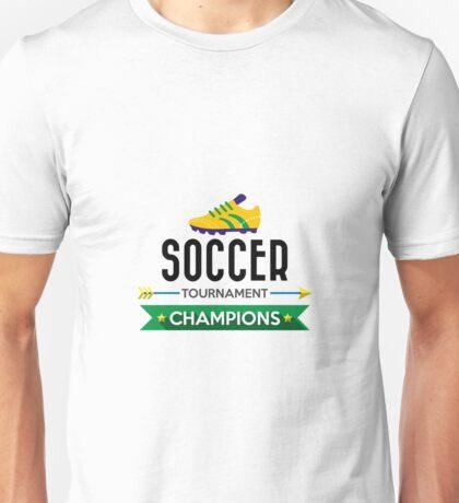 Creative soccer tournament champions Unisex T-Shirt
