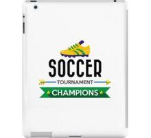 Creative soccer tournament champions iPad Case/Skin