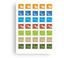 ABC-Book French Stamps #3 Canvas Print