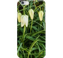 A white flower bells iPhone Case/Skin