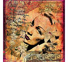 Marlene with a magnolia Photographic Print