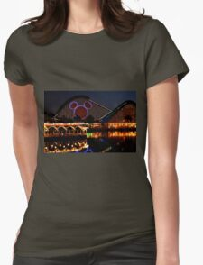 Night Coaster Womens Fitted T-Shirt