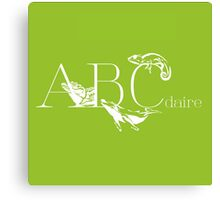 ABC-Book French  Canvas Print