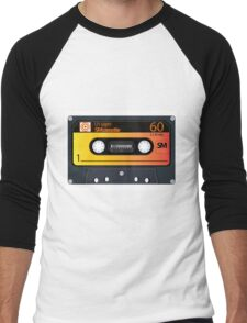 vintage audio tapes Men's Baseball ¾ T-Shirt