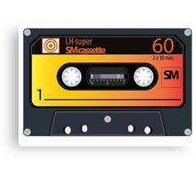 vintage audio tapes Canvas Print