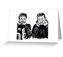 Tyler Joseph and Josh Dun Greeting Card