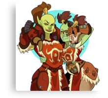Orc BFFs Canvas Print
