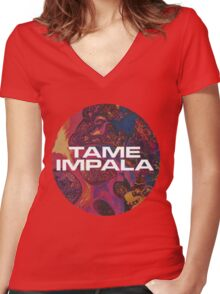 Tame Impala Logo #4 Women's Fitted V-Neck T-Shirt