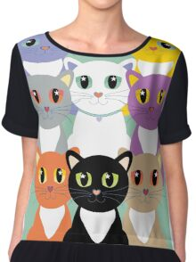 Only Eight Cats Chiffon Top
