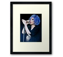 Alice Glass Screen Lines Framed Print