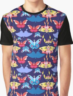 Pattern multicolored butterflies Graphic T-Shirt