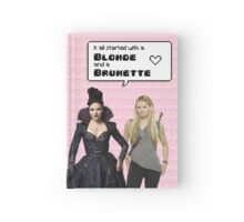 It all started with a Blonde and a Brunette | Swan Queen Hardcover Journal