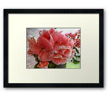 Pink Flowers HDR Framed Print