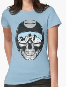 Dead Skier Womens Fitted T-Shirt