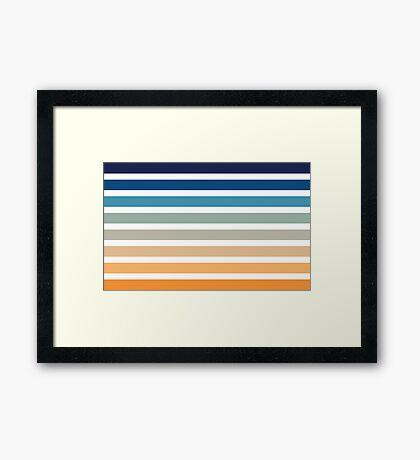 Beach- Sand, Ocean, Sunset sky Color Theme Framed Print
