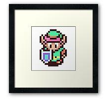The Legend of Zelda - Link Pixel Art Framed Print