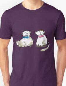 Male and female cat graphic T-Shirt