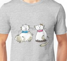 Male and female cat graphic Unisex T-Shirt
