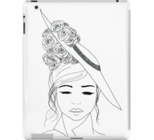 Stylish Vintage hat design iPad Case/Skin