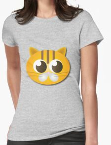 Cute cat graphics Womens Fitted T-Shirt