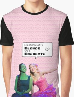 It all started with a Blonde and a Brunette   Gelphie Graphic T-Shirt