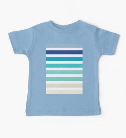 Beach- Sand, Ocean, Sky Color Theme Baby Tee