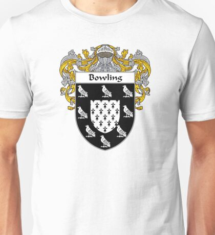 Bowling Coat of Arms/ Bowling Family Crest Unisex T-Shirt
