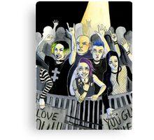 Misfits at a Concert Canvas Print