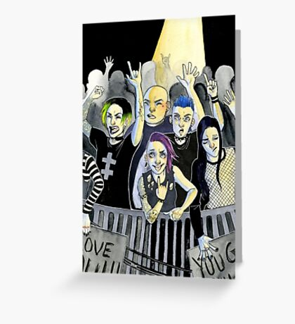 Misfits at a Concert Greeting Card