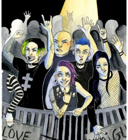 Misfits at a Concert Sticker