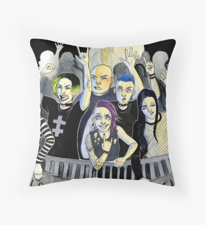 Misfits at a Concert Throw Pillow