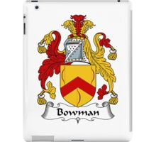 Bowman Coat of Arms / Bowman Family Crest iPad Case/Skin