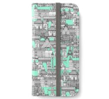 Paris toile aquamarine iPhone Wallet/Case/Skin