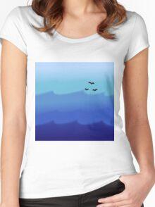 Ocean Gradient Women's Fitted Scoop T-Shirt