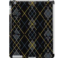 Argyle Blue/Grey iPad Case/Skin