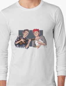 Tyler and Josh - ukulele and drumsticks Long Sleeve T-Shirt