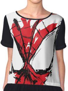 Spiderman Splatter Chiffon Top