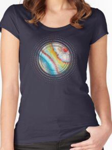 AGATE Inspired Watercolor Abstract 01 Women's Fitted Scoop T-Shirt