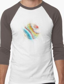 AGATE Inspired Watercolor Abstract 01 Men's Baseball ¾ T-Shirt