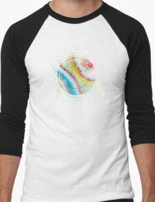 AGATE Inspired Watercolor Abstract 01 Men's Baseball ¾ T-Shirt