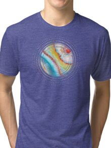 AGATE Inspired Watercolor Abstract 01 Tri-blend T-Shirt