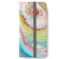 AGATE Inspired Watercolor Abstract 01 iPhone Wallet/Case/Skin