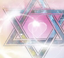 STAR OF DAVID-2- bless and protect- Art + Products Design  Sticker