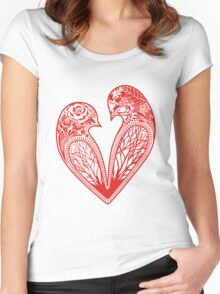 Love Birds Women's Fitted Scoop T-Shirt