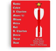 England 1966 World Cup Final Winners, Version 2.0 Canvas Print