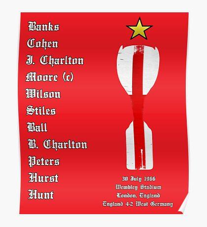 England 1966 World Cup Final Winners, Version 2.0 Poster