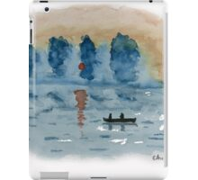 Blue Abstract Sunset - Watercolor Painting iPad Case/Skin