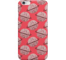 Red Planet Hand Drawn Pattern iPhone Case/Skin