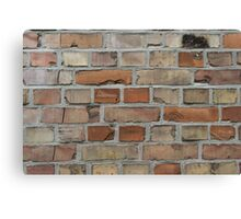 vintage red brick wall texture Canvas Print